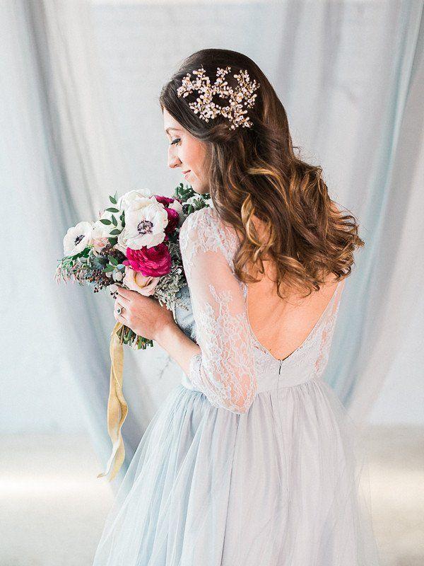 Blue Wedding Dress Idea Non White Wedding Dress With Lace