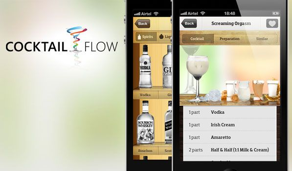 Designed and developed by Distinction, a mobile app design and development studio based in London and Budapest, Cocktail Flow is a gorgeous collection of pixels that's available on iPhone, Android and even Windows Phone 7. In fact, the app was available on Windows Phone 7 and Android before it arrived on iOS. The app features some amazing screens and little animations that make you smile. You can browse by category to pick your drink or select from the liquor you have in your bar and it'll…
