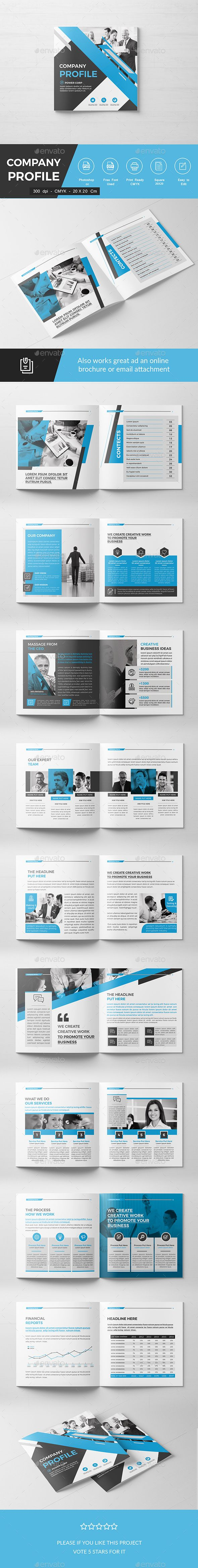 Square Company Brochure - Corporate #Brochures Download here: https://graphicriver.net/item/square-company-brochure/19596253?ref=alena994