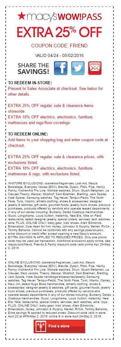 Macys printable coupons 25 off
