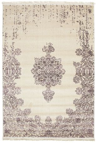Kerman Damask rug 230x160 cm made of PP Frieze. This is a machine knotted rug that due to its simplicity blends into most homes. The rug feels very much like the more common and popular Gabbeh rugs and has several positive characteristics. Find this affordable rugs at RugVista.com £150