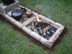 Dutch oven cooking pit