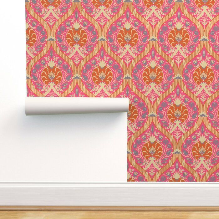World Menagerie Warrenville Indian Peel And Stick Wallpaper Roll Wayfair Peel And Stick Wallpaper Self Adhesive Wallpaper Wallpaper Roll