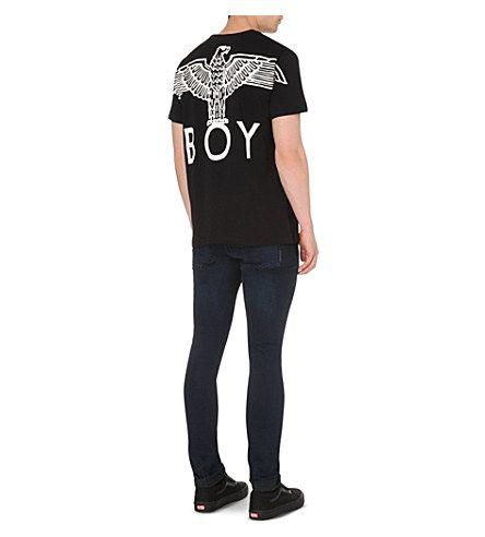 BOY LONDON Eagle-print cotton t-shirt (Black
