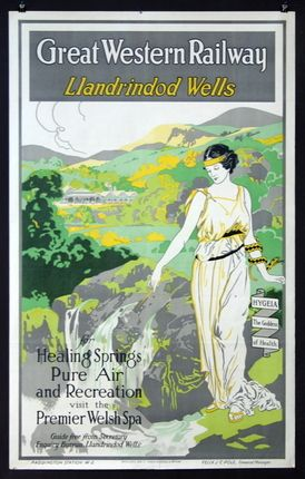 Great Western Railway: Llandrindod Wells, Wales.1920. Via SF Girl by the Bay.