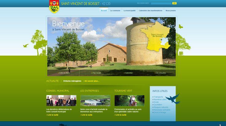 Site web de la COMMUNE  DE SAINT-VINCENT DE BOISSET - 2011