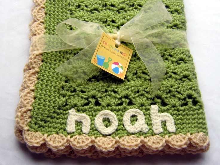 Personalized Baby Blanket - Crochet Baby Blanket - Baby ...