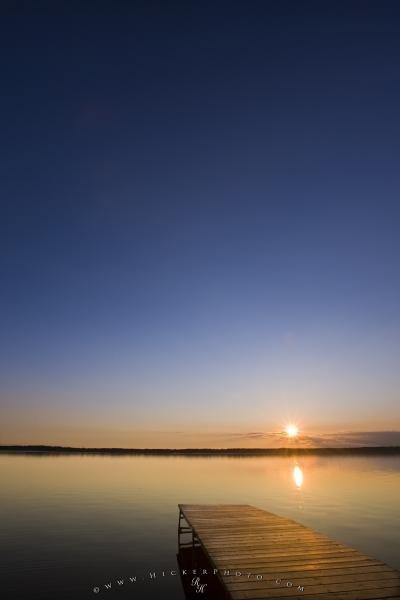 Photo:  Lake Audy Sunset Riding Mountain National Park Manitoba