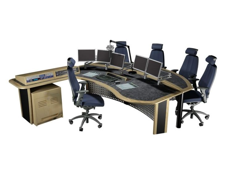 Radio Studio Presenter Desk Knotty Office Tech Equipment Pinterest Radios Studios And