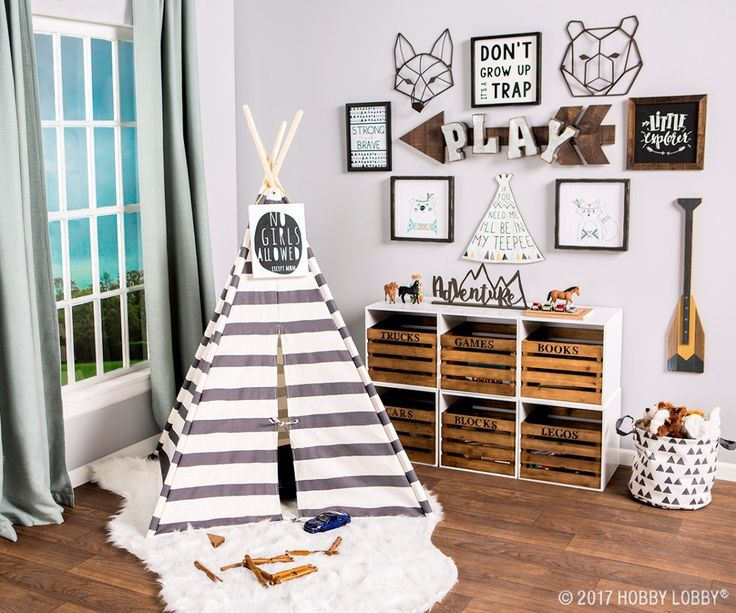 Give Your Little Explorer The Perfect Place To Play With A Woodland Themed  Playroom!