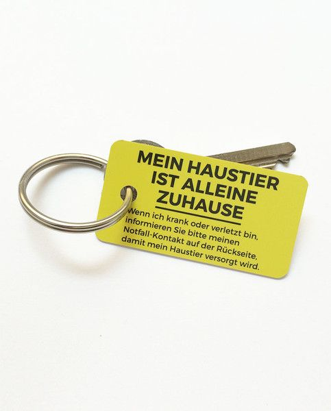 Haustier Notfall Schlüsselanhänger