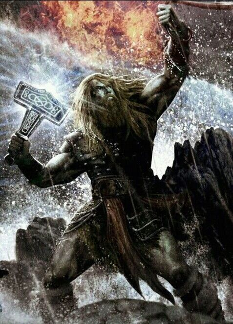 I think this is Thor not Odin.