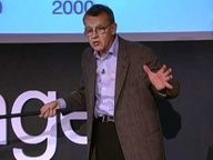 Hans Rosling talk on Millenium Goals.  He reframes 10 years of UN data with his spectacular visuals, lighting up an astonishing -- mostly unreported -- piece of front.