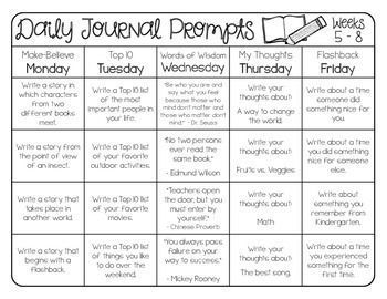 Daily Journal Prompts- 40 weeks and 200 prompts