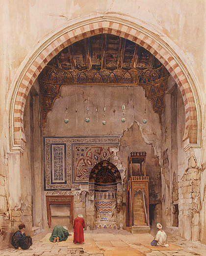 Интерьер мечети в Каире