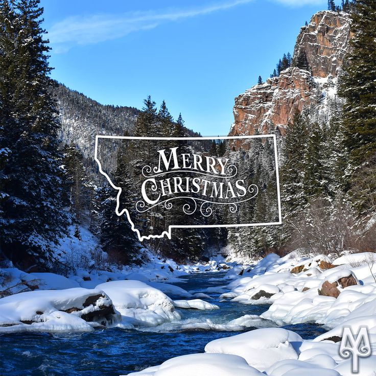 Christmas Eve on the Gallatin River...Locate this photo on Montana Treasures' Free Gallatin River Photo Map. Select Menu Item 'G51'.