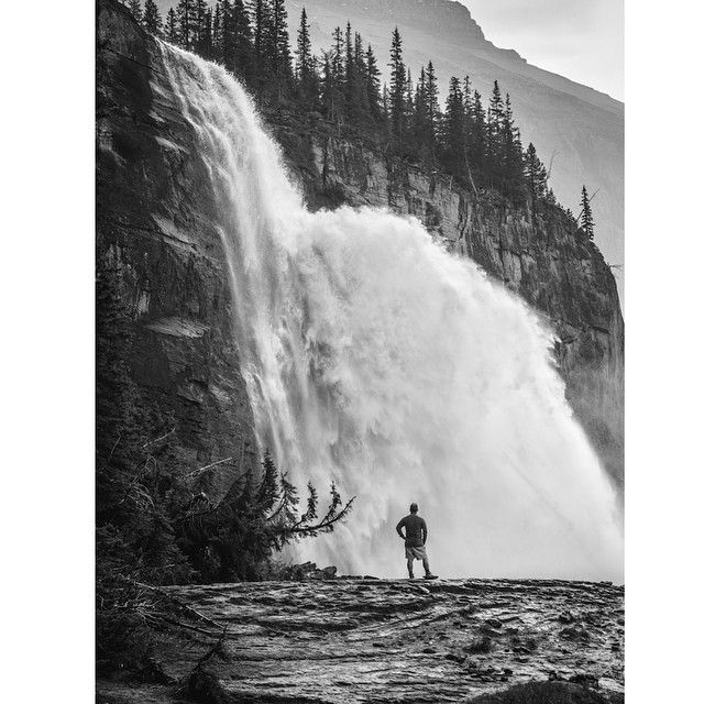 Emperor falls, BC. Berg lake trail