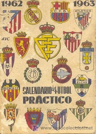 CALENDARIO DEM FUTBOL - LIGA 1962-63