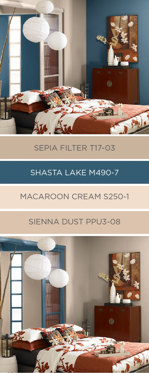 This Classic Blue And Tan Color Palette From Behr Uses A Combination Of Colors The