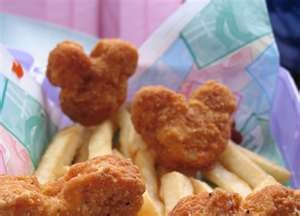 Get Mickey Mouse chicken nuggets from Costco for kiddos (if they still sell them)