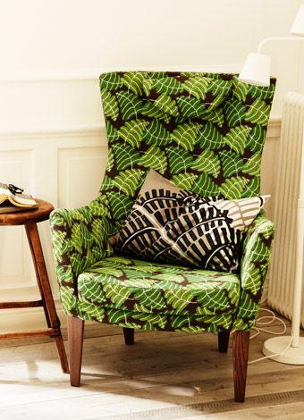 stockholm sessel mit hoher r ckenlehne und bezug mosta in gr n aus baumwolle und leinen ikea. Black Bedroom Furniture Sets. Home Design Ideas
