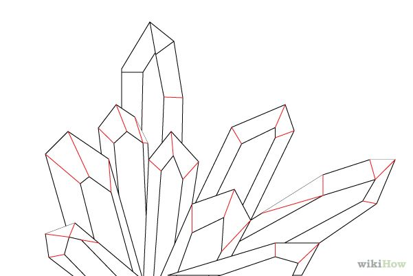 cluster of crystals drawing - Google Search