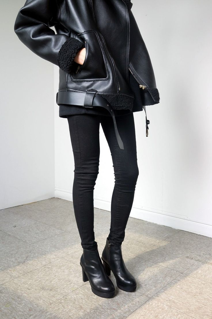 ACNE STUDIOS Jacket + Black Skinnies