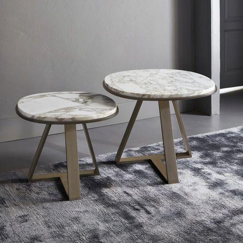 サイドテーブル / 円形 / コンテンポラリー / 大理石製 JUDD MERIDIANI