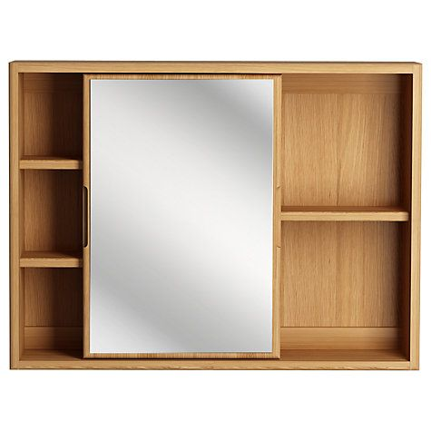 Buy John Lewis More Sliding Mirror Bathroom Cabinet Online At Johnlewis.com