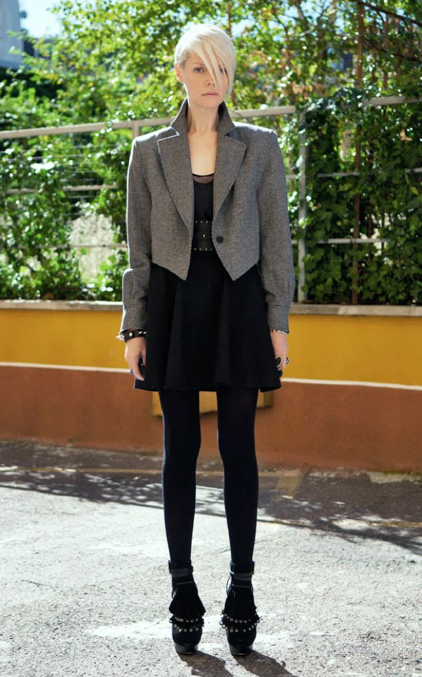 Chic formal with a boxy cropped jacket