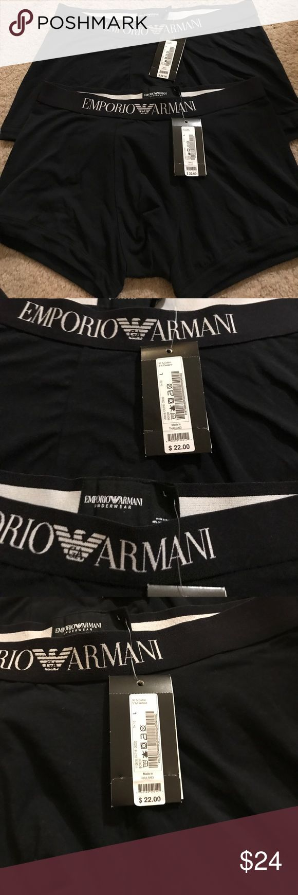 Set of 2 Emporio Armani Boxer Briefs Set of 2 Boxer Briefs. Never worn with tags. Comfortable fit. Price includes set of 2. Emporio Armani Underwear & Socks Boxer Briefs