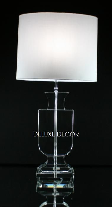 Modern Stylish Crystal Glass Table Bedside Lamp Base 9501 OW http://deluxedecor.com.au/products-page/table-lamps/modern-stylish-crystal-glass-table-bedside-lamp-base-9501-ow/