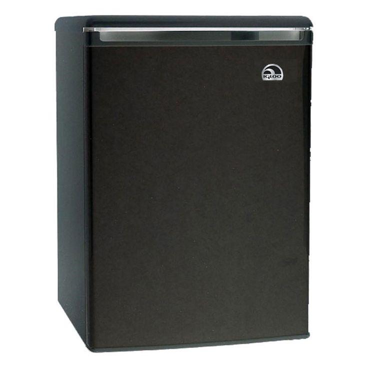 Igloo 3.2 Cu Ft Mini Fridge Refrigerator/Freezer, Black