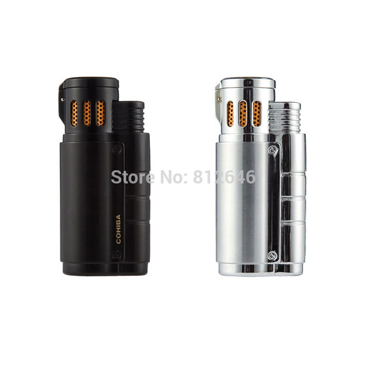 COHIBA Accessories Portable Pocket Metal 3 Torch Windproof Refillable Lighter Butane Gas Cigarette Cigar Lighter by CPCigar //Price: $39.60 & FREE Shipping //     #hashtag4