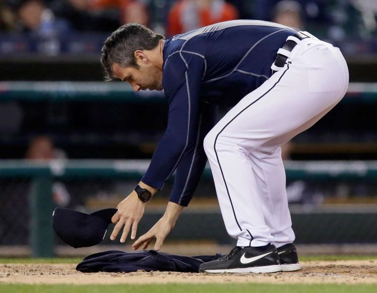 Home Plate With His Jacket After Being Ejected For Arguing Strikes By The Umpire In Game Against Minnesota Twins At Comerica Park