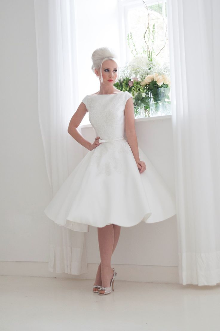 266 best tea length short wedding dresses images on for Wedding dress for a short bride