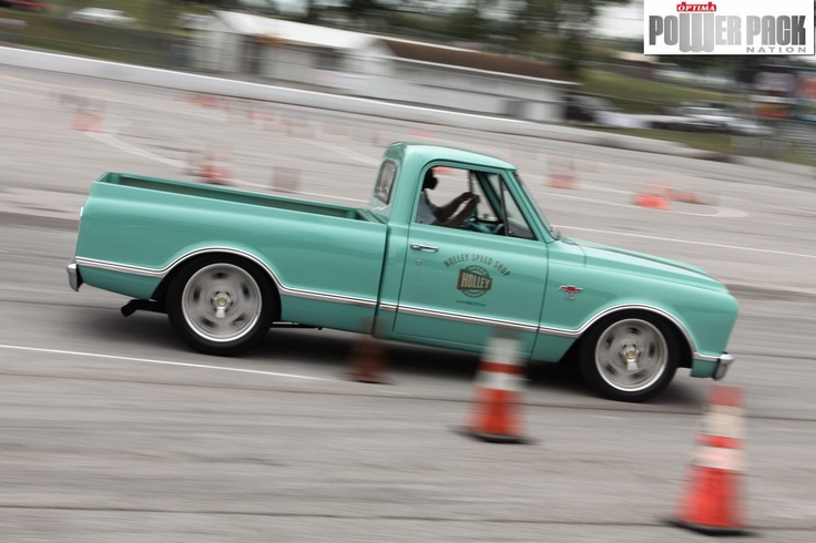 The @Holley Performance shop truck on the autocross at #LSFest 2011