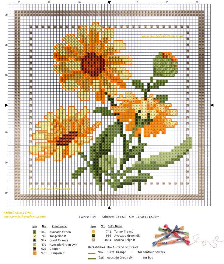 flores en punto de cruz - Поиск в Google
