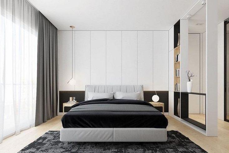 #Zimmer Dekorieren Schlafzimmer In Schwarz Und Weiß Sehr Elegant  #Dekorieren #Schlafzimmer #in