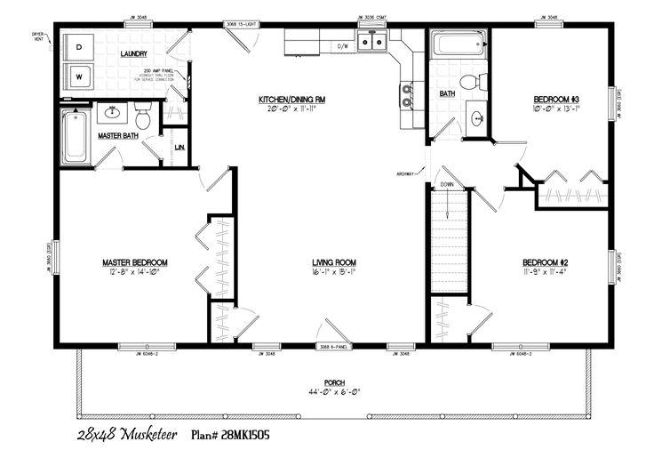 28 X 48 House Plans House Design Plans