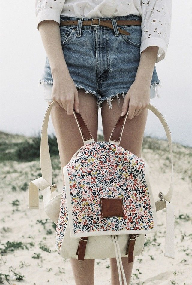 #summer #lookbook #backpack #flower #fashion #photography