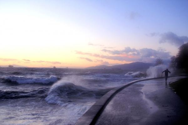 waves at english bay