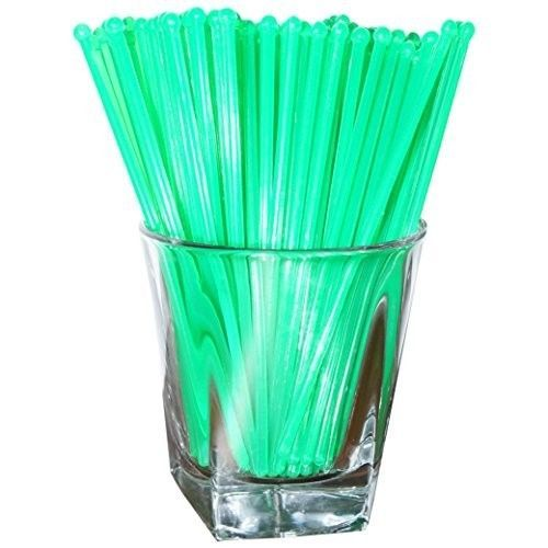 Plastic Swizzle Sticks Stirrers Set Party Drink Cocktail Mixing 48 Count Green  #SwizzleSticks
