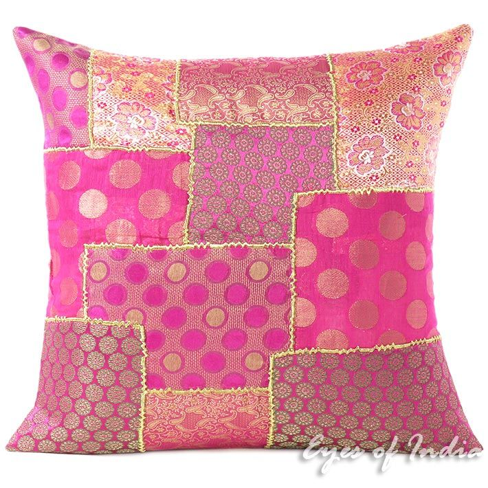 Pink Silk Brocade Colorful Decorative
