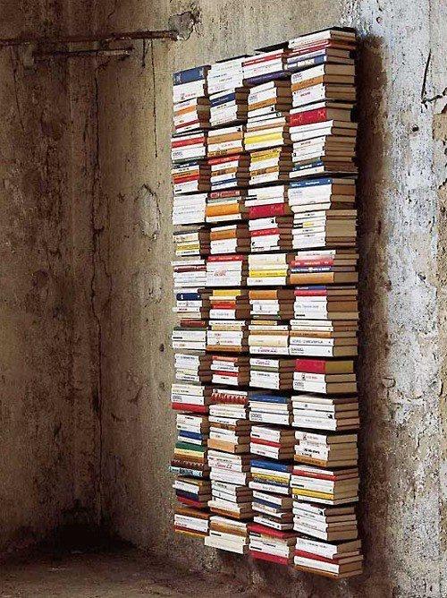 Invisible book shelf.