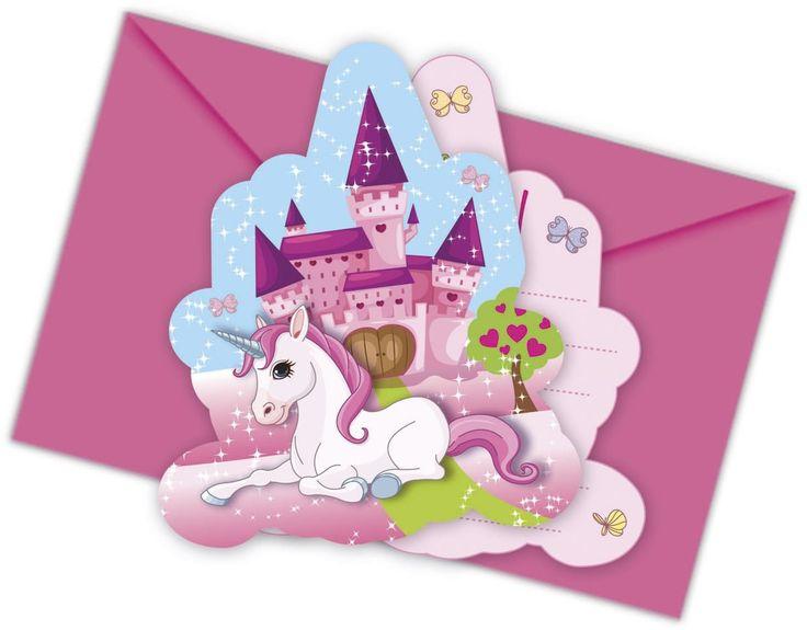 12-piezas Kit de invitación Unicornio para Cumpleaños Niños o Fiesta motos con 6 Tarjetas invitación y 6 Sobres niños cumpleaños fiesta Invitaciones Tarjetas Unicornio Niña Mundo de ensueño Candado: Amazon.es: Juguetes y juegos