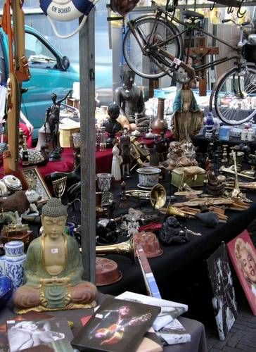 Amsterdam's Waterloopein Flea Market  Location: Waterlooplein (near Stadhuis-Muziektheater complex)  Monday - Saturday 9 a.m. - 6 p.m.