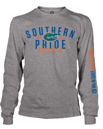 NCAA Florida Gators Southern Pride Grey Long Sleeve T-Shirt