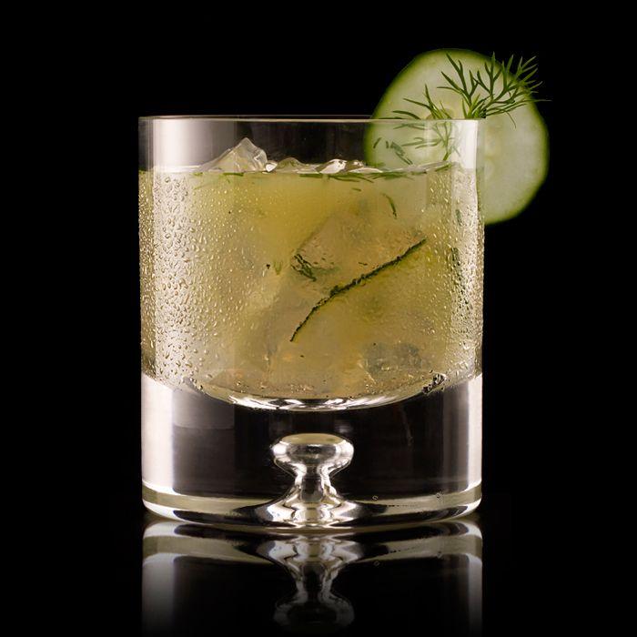 The Ultimat Dill  2   Cucumber slices      1  Dill sprig      1 oz   Lime juice      2 oz   Ultimat Vodka       .5 oz   Agave nectar  Garnish: Cucumber slice  Glass: Rocks