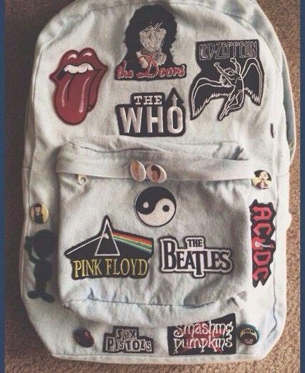 Imagen de Pink Floyd, bag, and the beatles